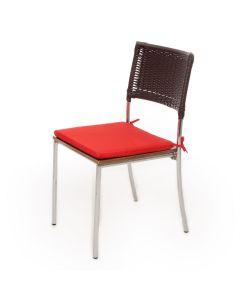Almofada Quadrada 40x40cm para Cadeira Havan - Vermelho Liso