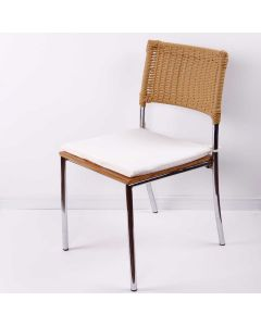Almofada Quadrada 40x40cm para Cadeira Havan - Bege Liso