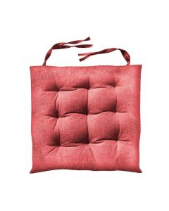 Almofada Quadrada Para Cadeira 40X40cm Futton - Vermelho
