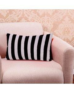 Almofada Requinte 30x50cm Decorativa com Zíper - Black