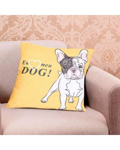 Almofada Teen Decorativa 45x45cm Estampada - Eu Amo Dog