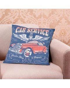 Almofada Teen Decorativa 45x45cm Estampada - Car Service
