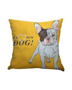 Almofada Teen Decorativa 45X45cm Estampada - Eu Amo Dog