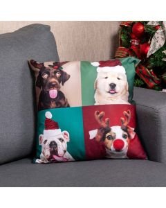 Almofada Vellus 48x48cm Natal Nunes - Dogs