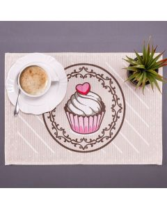 Americano Avulso Estampado Clean Genova Döhler - Cupcake Rosa