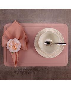Americano Avulso Retangular PVC Color - Rosa Chá
