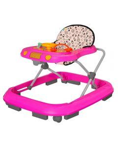 Andador Musical Tutti Baby - Safari Rosa
