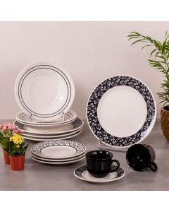 Aparelho de Jantar Arabescos 20 peças Biona - Ceramica