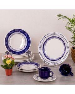 Aparelho de Jantar e Chá Colb 20 peças Biona - Azul