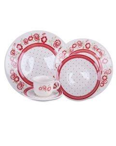Aparelho de Jantar Rosas 20 peças Biona - Ceramica