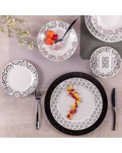 Aparelho de Jantar Estampado 20 Peças Solecasa - Porcelana