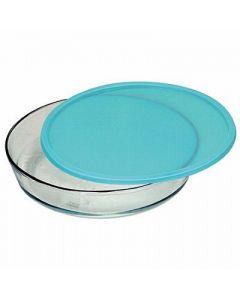 Assadeira Redonda com Tampa 2,4 litros Marinex - Colors