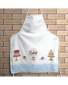 Avental Clean Estampado Döhler Clean - Cupcake Azul
