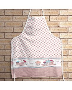 Avental Clean Estampado Döhler Clean - Cupcake Rosa