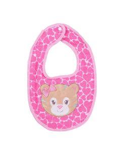 Babador Bichinhos Estampado Bambi - Rosa