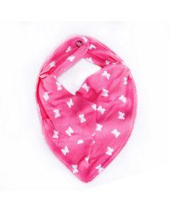 Babador para Bebê Bandana Tamanho Ùnico - Borboletas Rosa