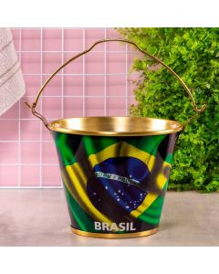 Balde de Gelo 5 Litros Brasil Globimport - Aluminio