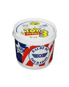 Balde de Soldados Toy Story 60 Peças Toyng - 26772 - Branco