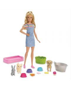Barbie Banho de Cachorrinhos Mattel - FXH11 - Colorido