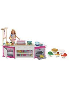 Barbie Cozinha de Luxo FRH73 Mattel - Rosa