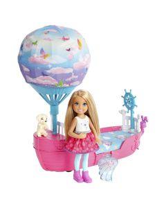 Barbie Dreamtopia Chelsea com Barco DWP59 Mattel - Colorido