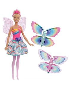 Barbie Fada com Asas FRB08 Mattel - Rosa