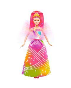 Boneca Barbie Fantasia Princesa Luzes Arco-íris Mattel - DIVERSOS