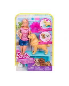 Barbie Filhotinhos Recém Nascidos FDD43 Mattel - Rosa