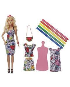 Barbie Pintando seu Estilo com Crayola - GGT44 - Colorido
