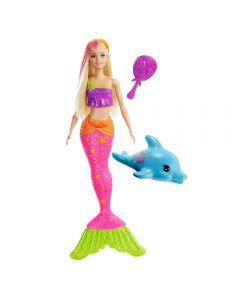 Barbie Sereia Muda de Cor Mattel - GGG58 - Rosa