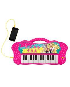 Teclado Musical Fabuloso Barbie com Função MP3 Fun - Rosa