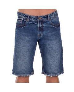 Bermuda Jeans com Bigodes a Laser Thing Blue