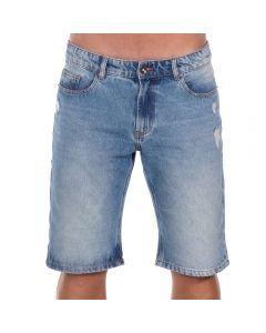 Bermuda Jeans com Leves Puídos Thing Blue