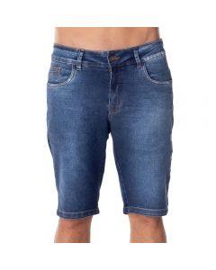 Bermuda Jeans com Used Thing Azul