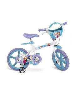 Bicicleta Aro 14 Frozen 2498 Bandeirante - Branco