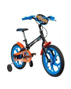 Bicicleta Aro 16 Hot Wheels Caloi - Preto