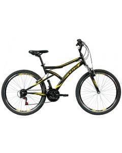 Bicicleta Aro 26 Andes Freio V-Brake Caloi - Preto e Amarelo