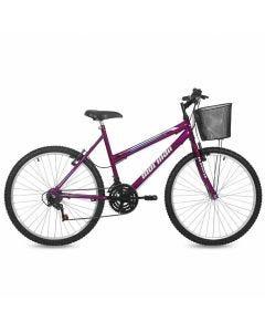 Bicicleta Aro 26 Mormaii Safira com Cesto - Violeta