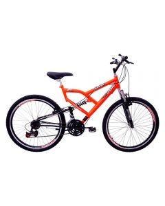 Bicicleta Aro 26 Jumper Boy Com Suspensão Cairu - Laranja