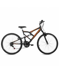 Bicicleta Aro 26 V-Brake Nylon Mormaii Fullsion - Preta