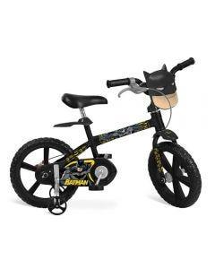 Bicicleta Batman Aro14 Bandeirante - Preto
