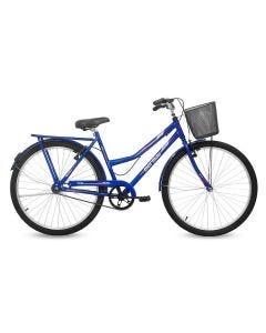 Bicicleta Eco Aro 26 Valente com Cesta Mormaii - Azul