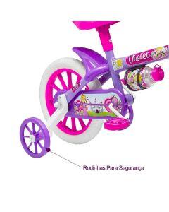 Bicicleta Violet Aro 12 com Garrafinha Nathor - Lilás