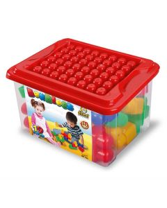 Blocos de Montar Infantil BoxBlok 19 Peças Dismat - Vermelho