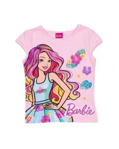 Blusa 1 a 3 Anos Cotton Barbie Colors Mattel Rosa Claro