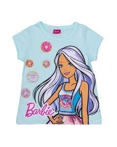 Blusa 12 a 16 Anos  Barbie Rosquinhas Mattel Azul Maldivas