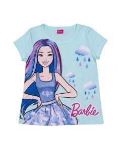 Blusa 12 a 16 Anos Barbie Rain Mattel Azul Maldivas