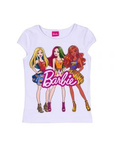 Blusa 12 a 16 Anos Cotton Barbies Mattel Branco