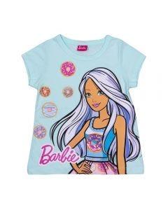 Blusa 4 a 10 Anos Barbie Rosquinhas Mattel Azul Maldivas
