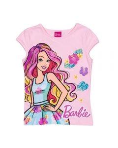 Blusa 4 a 10 Anos Cotton Barbie Colors Mattel Rosa Claro